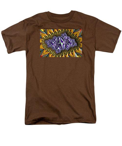 Men's T-Shirt  (Regular Fit) featuring the digital art Astonishment - A Fractal Artifact by Manny Lorenzo