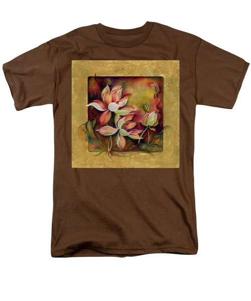 Men's T-Shirt  (Regular Fit) featuring the painting At A Family Wander by Anna Ewa Miarczynska