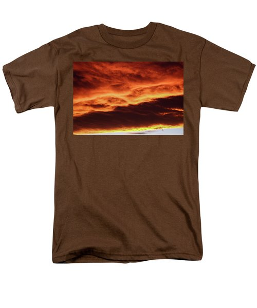 Aurora Firey Sunset Men's T-Shirt  (Regular Fit) by John McArthur