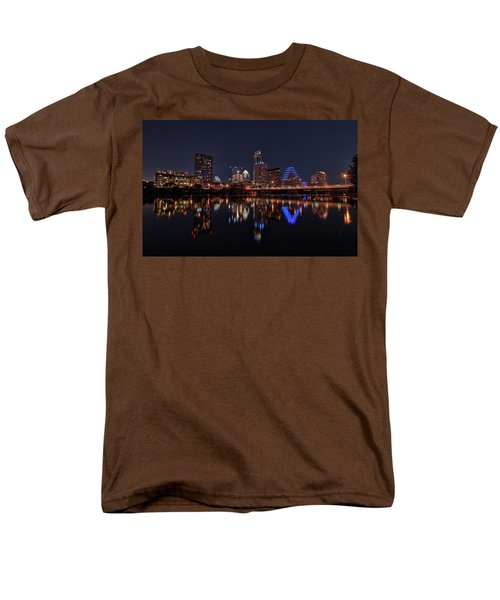 Austin Skyline At Night Men's T-Shirt  (Regular Fit) by Todd Aaron