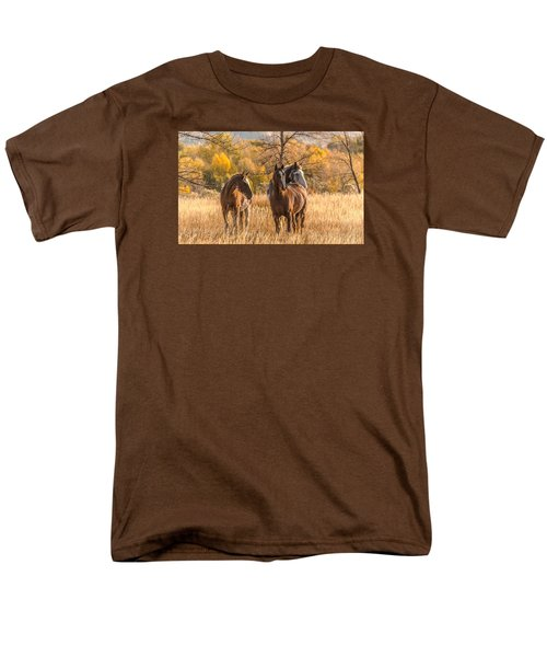 Men's T-Shirt  (Regular Fit) featuring the photograph Autumn Beauty At Dawn by Yeates Photography