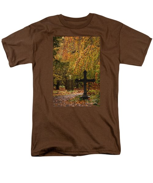 Men's T-Shirt  (Regular Fit) featuring the photograph Autumn Cemetary by Inge Riis McDonald