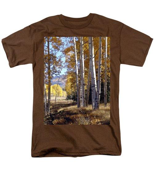 Autumn Chama New Mexico Men's T-Shirt  (Regular Fit) by Kurt Van Wagner