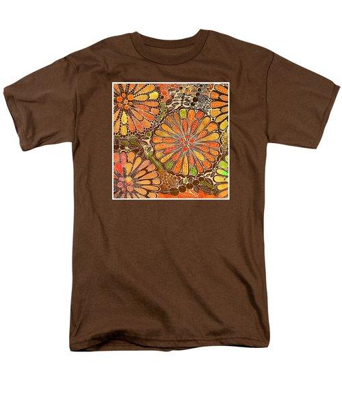 Autumn  Colors Mandalas  Men's T-Shirt  (Regular Fit) by Sandra Lira