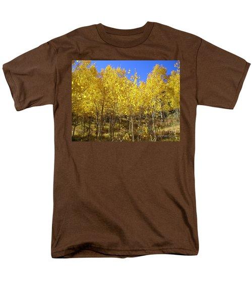 Autumn Gold Men's T-Shirt  (Regular Fit) by Ellen Heaverlo