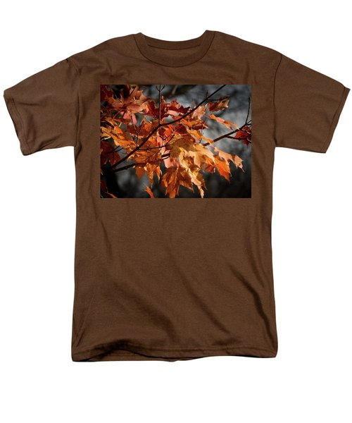 Autumn Gray Men's T-Shirt  (Regular Fit) by Kimberly Mackowski