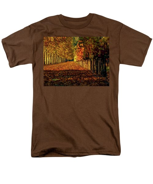 Men's T-Shirt  (Regular Fit) featuring the pyrography Autumn In Napa Valley by Bill Gallagher