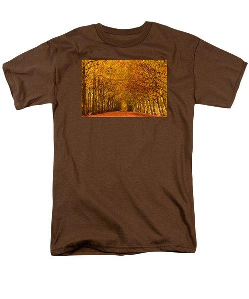 Autumn Lane In An Orange Forest Men's T-Shirt  (Regular Fit)