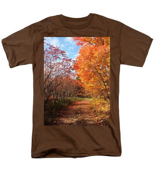 Men's T-Shirt  (Regular Fit) featuring the photograph Autumn Lane by Pat Purdy