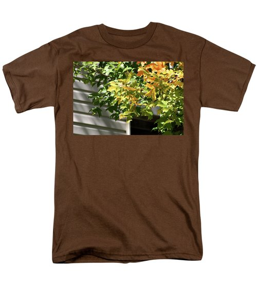 Autumn Leaves Against White Men's T-Shirt  (Regular Fit) by Michele Wilson