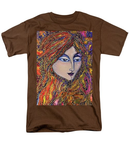 Men's T-Shirt  (Regular Fit) featuring the painting Autumn Leaves by Rae Chichilnitsky