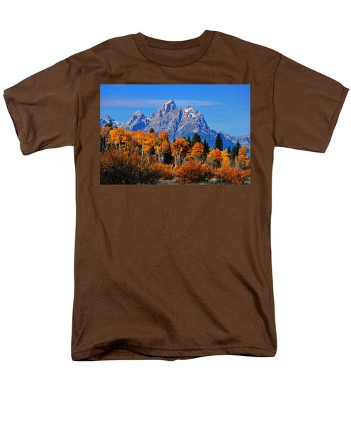 Men's T-Shirt  (Regular Fit) featuring the photograph Autumn Peak Beneath The Peaks by Greg Norrell