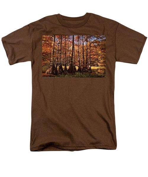 Men's T-Shirt  (Regular Fit) featuring the photograph Autumn Splendor At Lake Murray by Tamyra Ayles