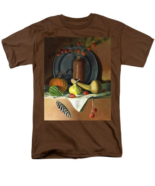 Men's T-Shirt  (Regular Fit) featuring the painting Autumn Still Life by Nancy Griswold