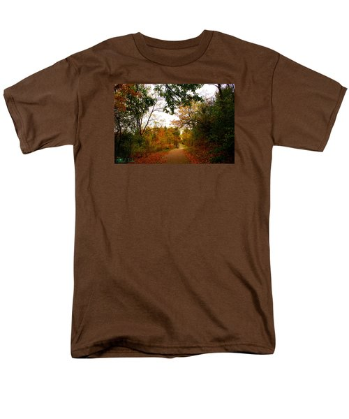Men's T-Shirt  (Regular Fit) featuring the photograph Autumn Trail by Michael Rucker