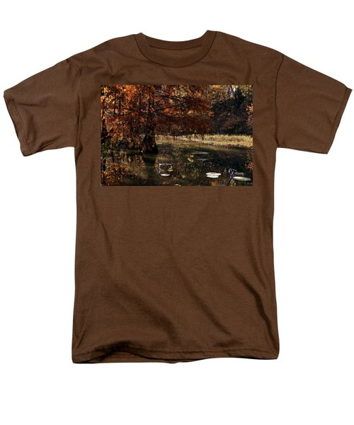 Men's T-Shirt  (Regular Fit) featuring the photograph Autumnal Solace At Lake Murray by Tamyra Ayles