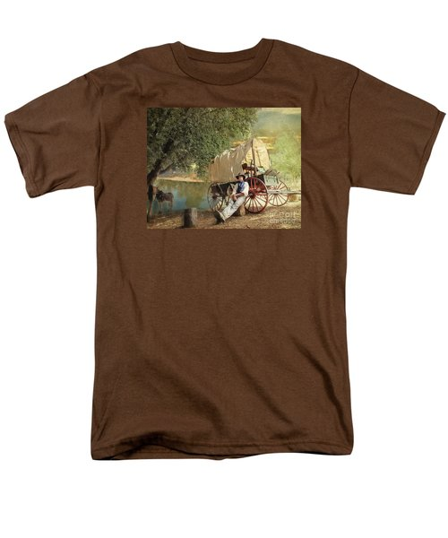 Men's T-Shirt  (Regular Fit) featuring the photograph Back Country Camp Out by Rhonda Strickland