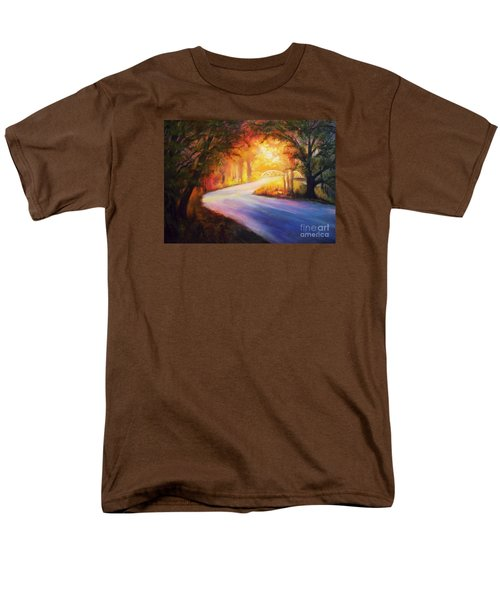 Back Road To Paradise Men's T-Shirt  (Regular Fit) by Karen Kennedy Chatham