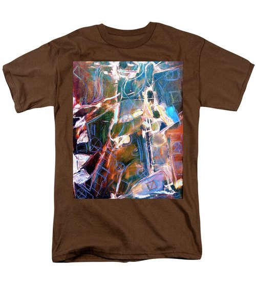 Men's T-Shirt  (Regular Fit) featuring the painting Badlands 1 by Dominic Piperata