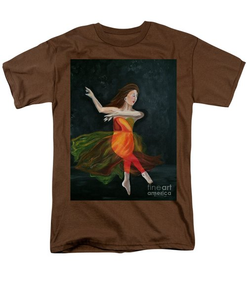 Men's T-Shirt  (Regular Fit) featuring the painting Ballet Dancer 2 by Brindha Naveen