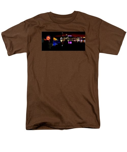 Baltimore Night Mosaic Men's T-Shirt  (Regular Fit) by William Bartholomew