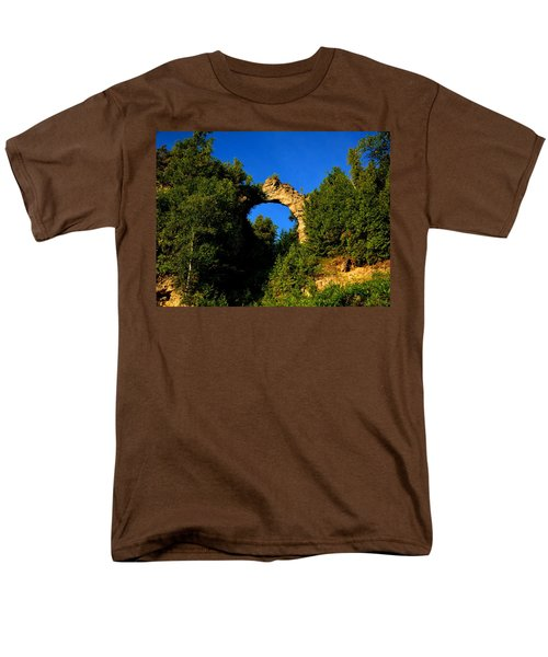 Beneath Arch Rock Men's T-Shirt  (Regular Fit) by Keith Stokes
