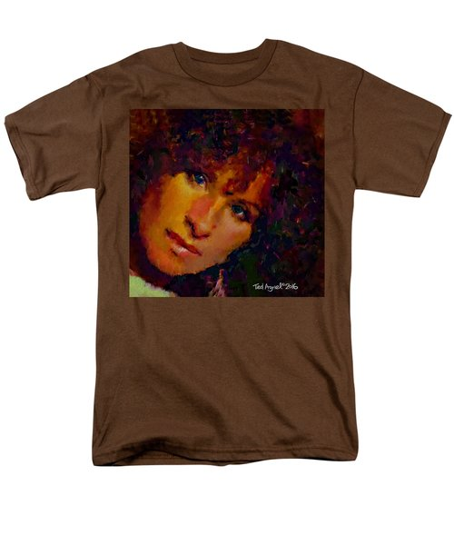 Men's T-Shirt  (Regular Fit) featuring the painting Barbra Streisand by Ted Azriel