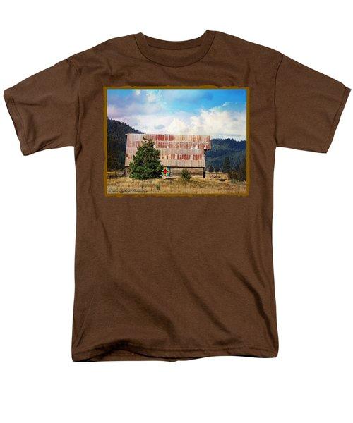Barn Quilt Americana Men's T-Shirt  (Regular Fit) by Bobbee Rickard