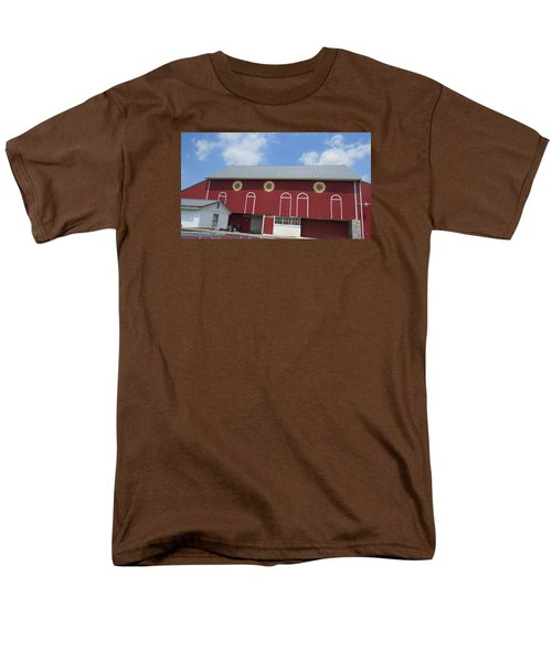 Barn With Hex Signs Men's T-Shirt  (Regular Fit) by Jeanette Oberholtzer