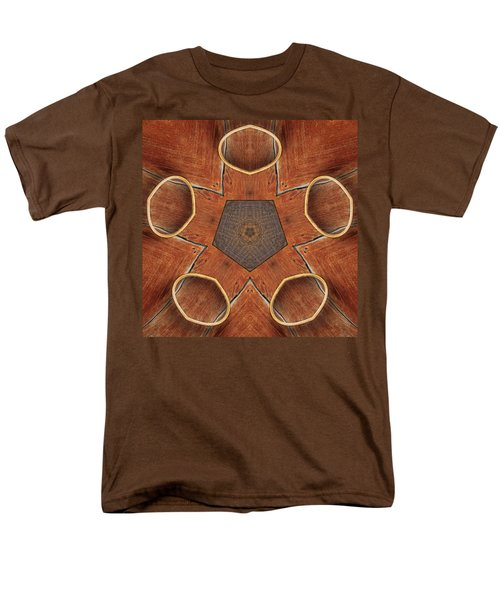 Men's T-Shirt  (Regular Fit) featuring the photograph Barn Wood Kaleidoscope 2  by Peter J Sucy