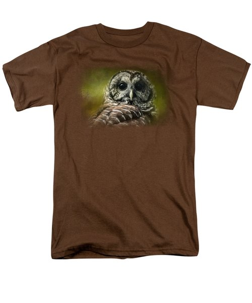 Barred Owl In The Grove Men's T-Shirt  (Regular Fit) by Jai Johnson