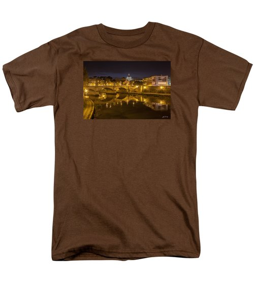 Basilica Over The River Tiber Men's T-Shirt  (Regular Fit) by Ed Cilley
