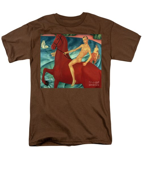 Bathing Of The Red Horse Men's T-Shirt  (Regular Fit) by Kuzma Sergeevich Petrov-Vodkin