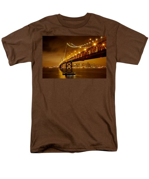 Men's T-Shirt  (Regular Fit) featuring the photograph Bay Bridge by Evgeny Vasenev