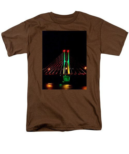 Bay View Christmas Lights Men's T-Shirt  (Regular Fit) by Justin Moore