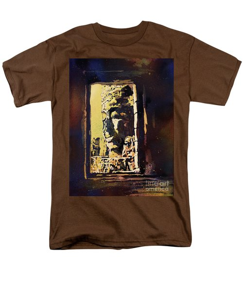 Men's T-Shirt  (Regular Fit) featuring the painting Bayon IIi- Cambodian Ruins, Angkor Wat by Ryan Fox