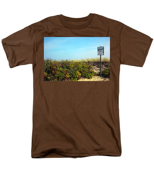 Men's T-Shirt  (Regular Fit) featuring the photograph Be Kind To The Dune Plants by Madeline Ellis