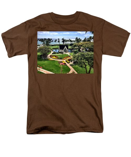 Men's T-Shirt  (Regular Fit) featuring the photograph Beach Steeple by Michael Albright