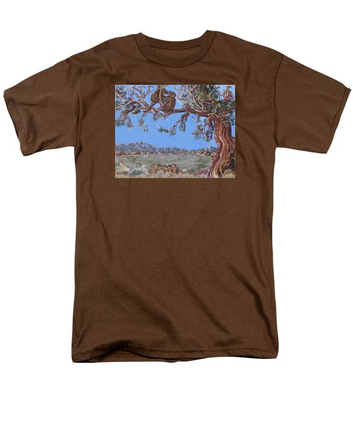 Men's T-Shirt  (Regular Fit) featuring the painting Bear Cubs In Cedar by Dawn Senior-Trask