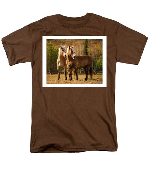 Men's T-Shirt  (Regular Fit) featuring the photograph Belgian Draft Horses by Sharon Jones