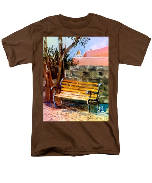Bench At Waterfront Park Men's T-Shirt  (Regular Fit) by Jim Phillips