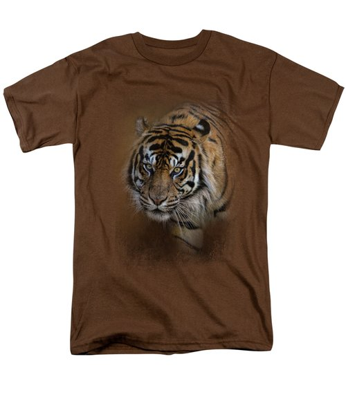 Bengal Stare Men's T-Shirt  (Regular Fit) by Jai Johnson
