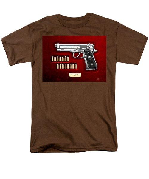 Beretta 92fs Inox Over Red Velvet Men's T-Shirt  (Regular Fit) by Serge Averbukh