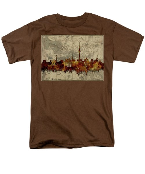 Berlin City Skyline Vintage Men's T-Shirt  (Regular Fit) by Bekim Art