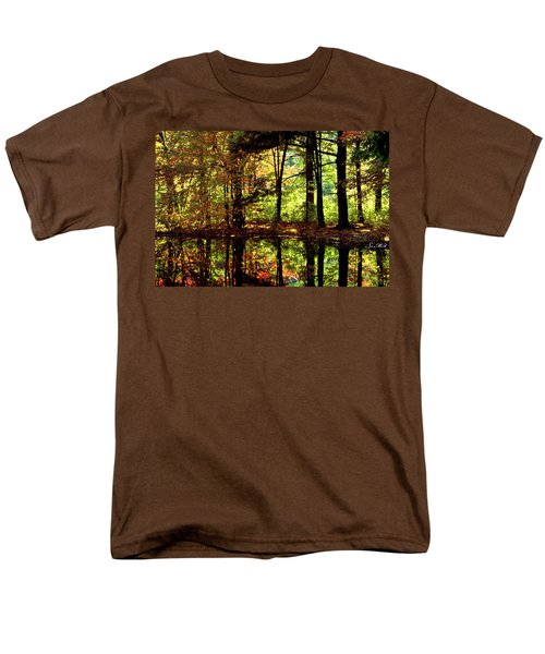 Bernharts Dam Fall 006 Men's T-Shirt  (Regular Fit) by Scott McAllister