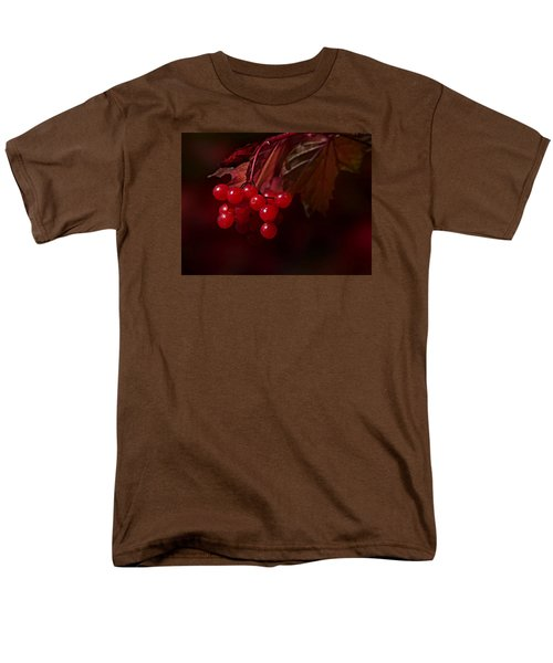 Men's T-Shirt  (Regular Fit) featuring the photograph Berry Red by Judy  Johnson