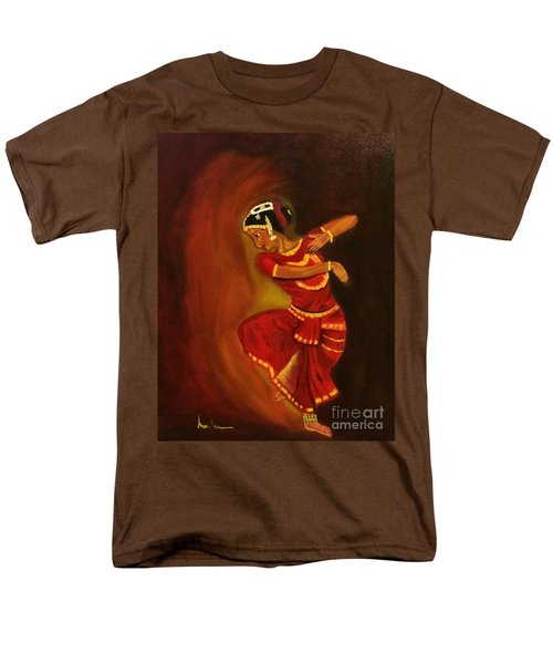 Men's T-Shirt  (Regular Fit) featuring the painting Bharatnatyam Dancer by Brindha Naveen