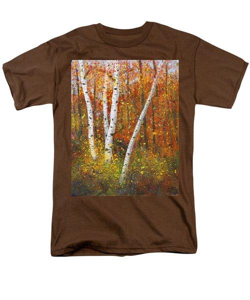 Birches Men's T-Shirt  (Regular Fit) by Garry McMichael