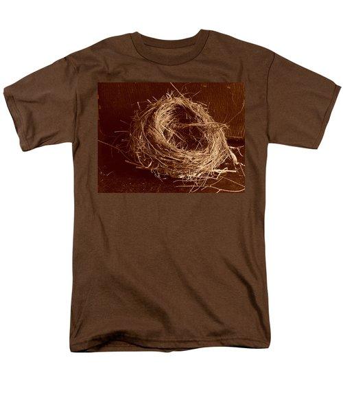 Bird's Nest Sepia Men's T-Shirt  (Regular Fit)