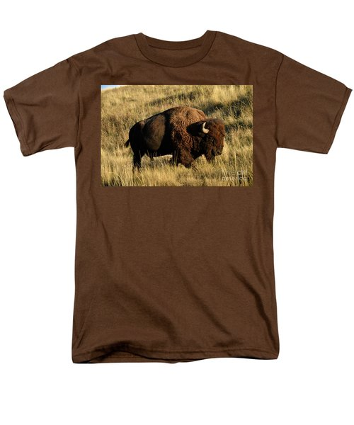 Bison  Men's T-Shirt  (Regular Fit) by Cindy Murphy - NightVisions